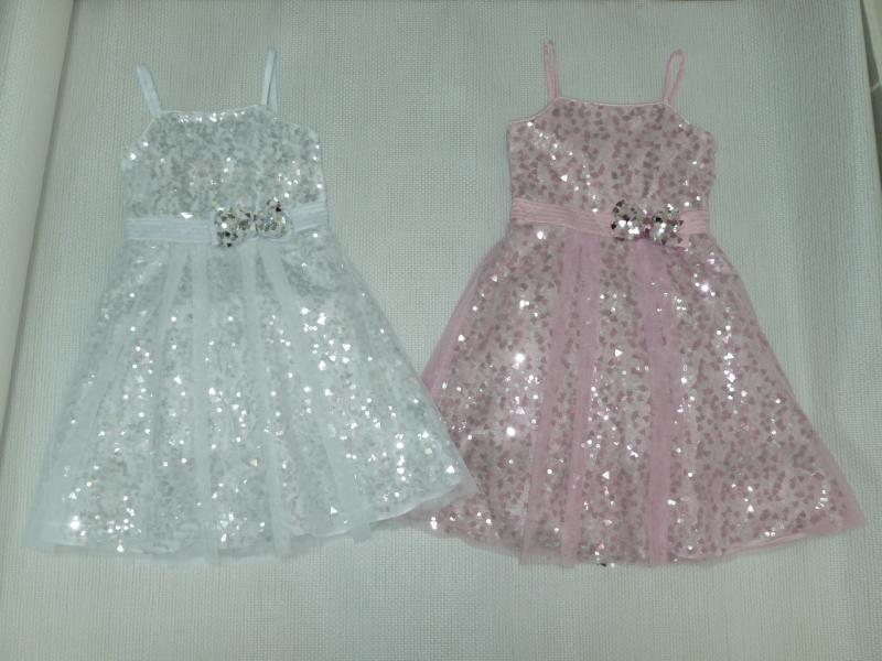 Платье с пайетками для девочки сшить 36